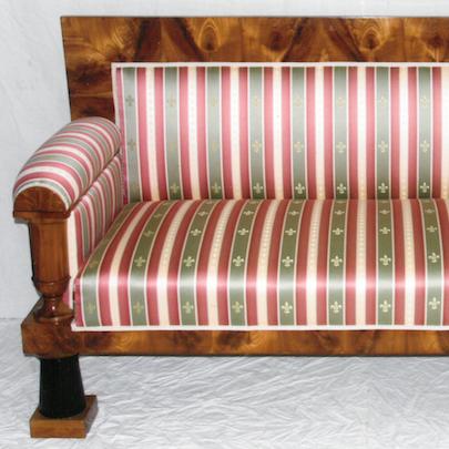 Biedermeier sofa – zámek Kostelec nad Orlicí 1830